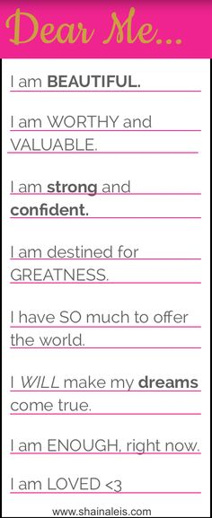 Celebrate yourself with daily mantras. Believe in yourself and anything is possible! www.shainaleis.com