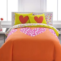 Aria: Agatha Ruiz de la Prada Polka Heart Comforter Set & Reviews | Wayfair