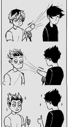 Image about funny in haikyuu! Haikyuu Karasuno, Haikyuu Funny, Haikyuu Fanart, Kagehina, Kenma, Comic Anime, Otaku Anime, Manga Anime, Fanarts Anime
