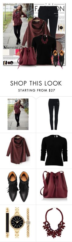 """Shein Red Cardigan Sweater"" by oribeauty-cosmeticos ❤ liked on Polyvore featuring mode, Oscar de la Renta, Sophie Hulme, Chanel, Style & Co. en Ek Thongprasert"