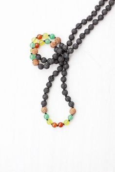 Rasta Lava Mala celebrates the idea of one love, and wearing that intention.
