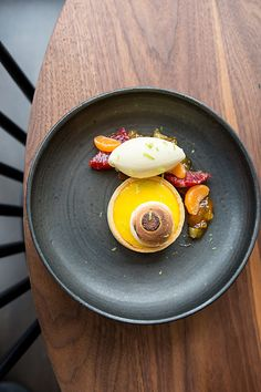 Meyer Lemon Tart, Bergamot Marmalade, Winter Citrus, and Orange Blossom Ice…