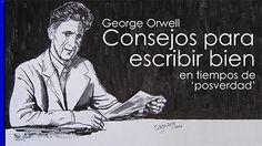 George Orwell: Consejos para escribir bien en tiempos de posverdad / Tarjeta Orwell lee 01 / Diseño lámina: SharingIdeas-Josecavd / Origen Imagen: Osucaru No Yume / Artículo completo en: http://sharingideas-josecavd.blogspot.com.es/2017/09/george-orwell-consejos-para-escribir-bien-posverdad-hechos-alternativos.html