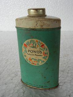 ADV EHS Vintage Ponds Talcum Powder Litho Print Tin Box :- London
