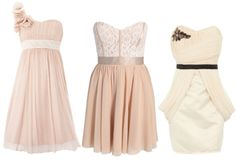 I like the one on the left in a light purple for bridesmaid