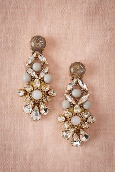 Opalescent earrings for the bride