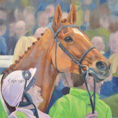 'Annie Power at Cheltenham' Original Oil Painting by Sara Hodson