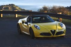 2015 Alfa Romeo 4C Spider - The Agony and Ecstasy. Brilliant at attracting attention.