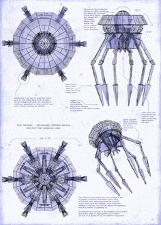 Flying car drone pinterest flying car and cars blueprint of an advanced spider drone based on the world of eve online malvernweather Choice Image