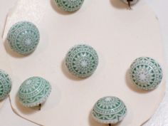 Vintage Green Buttons Domed Starburst Design x by GriffithGardens, $3.00