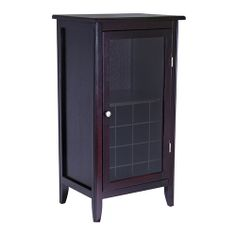 Winsome Wood 92522 - Ryan Wine Cabinet 16-Bottle, Glass Rack, One Door | Sale Price: $171.30