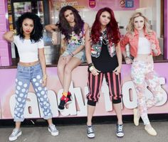 Little Mix. From the left: Leigh-Anne Pinnock, Jade Thirwall, Jesy Nelson and Perrie Edwards Jesy Nelson, Perrie Edwards, Little Mix Style, Little Mix Girls, My Style, Celeb Style, Sleepover Party, Little Mix Images, Dna
