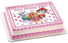 Paw Patrol Girls Edible Birthday Cake OR Cupcake Topper – Edible Prints On Cake (EPOC)
