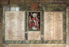 Barnsley War Memorials Project: Darfield, All Saints Church, WW1 Memorial tablet