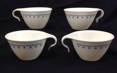 Corelle Livingware Blue Snowflake Design Hook Handle Cups Mugs #CorelleLivingware