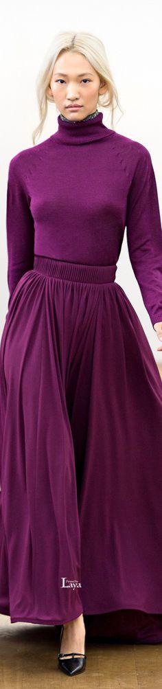Escada Fall 2015 Ready-to-Wear Fashion Show, Woman Fashion, Fashion Design, Purple Fashion, Dress For Success, Shades Of Purple, Ready To Wear, Autumn Fashion, High Neck Dress