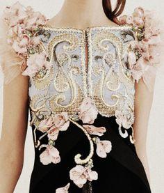 Romantic Fashion - alexis mabille, exquisite haute couture dress - floral fancies & sumptuous detail