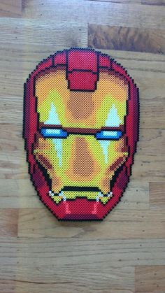 Iron Man Perler Beads by PerlerBeadArtNow on Etsy