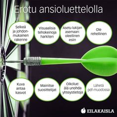 Erotu ansioluettelolla! #työnhaku #cv #ansioluettelo Great Leaders, Story Of My Life, Curriculum, Life Hacks, Education, Learning, Tips, Resume, Teaching Plan