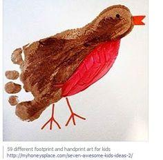 foot/handprint art ideas for kids