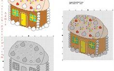 Пряники и конфеты конфеты дома бесплатно схему для вышивки крестом на Рождество идеи