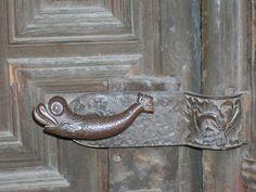 Fish Door Hinge Detail  -  Bronze