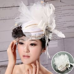 White feather headdress wedding garland