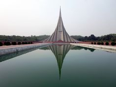 The National Martyrs Monument, 30 kilometers northwest of Dhaka, Bangladesh, commemorates the millions who died in the 1971 War of Independence. North West, Line, Dhaka Bangladesh, India, Projects, Pictures, War, Instagram, Blue Prints