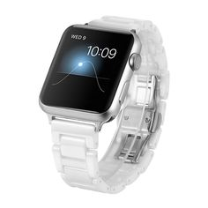 Ceramic Apple Watch Band 38MM White, SOWELL Bracelet Replacement Wrist Band for Apple iWatch Series 2 Series 1 (White 38MM)