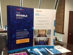 Check out this tabletop display that we recently produced for Dycem: