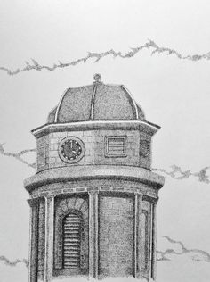 Peak - Pic - Drawing, in by Suzanne Berton - Drawing, Ink Kingston Ontario, Pointillism, Taj Mahal, Original Art, Canada, Outdoor Structures, Ink, History, Architecture