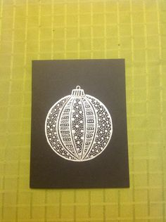 Zentangle Christmas Card