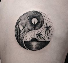 Yin-Yang Summer & Winter Balance Symbol | Tattoo Ideas