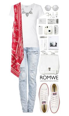 """""""Romwe 1"""" by scarlett-morwenna ❤ liked on Polyvore featuring Proenza Schouler, James Perse, Converse, Forever 21, NARS Cosmetics, Lord & Berry, L:A Bruket, Trish McEvoy, Christian Dior and Essie"""