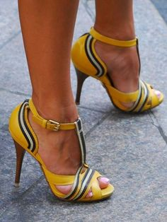 Yellow Sandal Shoes Peep Toe Stiletto Heel T Strap Color Block Women& Sanda. - Yellow Sandal Shoes Peep Toe Stiletto Heel T Strap Color Block Women& Sandals - Hot Shoes, Women's Shoes, Me Too Shoes, Shoe Boots, Shoes Sneakers, Dance Shoes, Platform Shoes, Shoes Wedges Boots, Yeezy Shoes