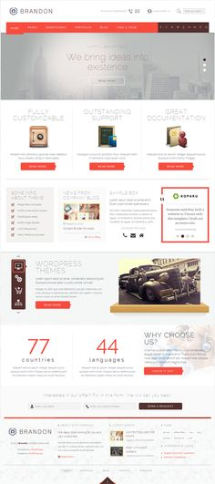 Brandon - Responsive Multi-Purpose WordPress Theme #creative #responsive #webdesign #flat #design #inspiration