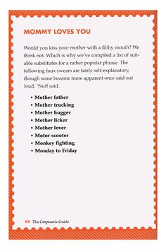 Mothers & Sons (The Craptastic Guide To Pseudo-Swearing By Michelle Witte)