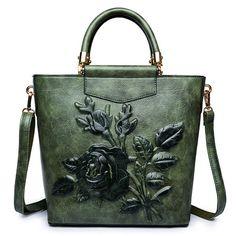 Bagail Elegant National Style Flower Pattern Shoulder Bags Crossbody Bags  For Women Floral Shoulder Bags dea091b6e9838