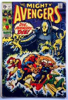 Avengers #67, Marvel Aug 1969, Iron Man, Thor, Vision, Goliath & Ultron