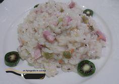 Risotto con Nergi e pancetta dolce...   Ingredienti per n.4 persone: g 360/380 Riso Barone Carnaroli, l 2,5 circa brodo vegetale, sale e pep...