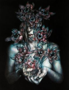 "Marco Mazzoni:  ""How To Dissolve The Pain""  2016. Blue shadows are striking in this piece. Evokes an emotion of hope in me."