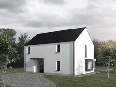 LOUISE SLINEY ARCHITECTS MRIAI Passive House Design, Modern House Design, House Designs Ireland, Building Extension, Two Storey House, Rural House, Farmhouse Renovation, Architect House, Model Homes