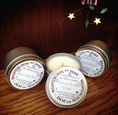 12 Holiday Scented Soy Candles in 6 oz. Travel Tins by WashAvePost, $65.00