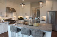 The Fat Hydrangea: Parade of Homes - House #2 - Favorite Kitchen! -- ALPINE WHITE countertops