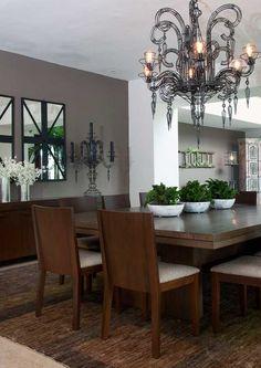 Las 43 mejores im genes de adornos alegres para tu mesa de for Espejos decorativos para pasillos