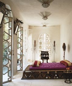 #Lifestyle | #Decoration_interieur #Interior_design | #Chambre #Bedroom #room   | ► Décor d'inspiration marocaine