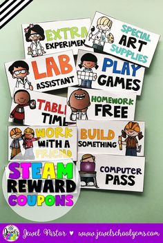 STEM Reward Coupons (STEAM Classroom Coupons) | Student | Fun | Behavior Management | Classroom coupons are a super powerful tool to add to your classroom management arsenal. Similar to brag tags, they can be used to recognize individual student achievement and behavior. They are also virtually cost free (excluding ink and laminating) and flexible. These STEM/STEAM reward coupons come in color, as well as black and white, giving you flexibility in printing.