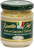 A marvelous cream of truffel and artichoke in Olive oil extravergine from Puglia Italy, So nice on toast or with a nice wine with tarallini