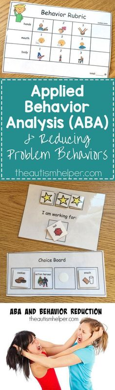 Applied Behavioral Analysis (ABA) strategies breakdown on the blog! From theautismhelper.com #theautismhelper
