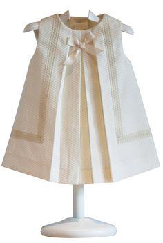 Beige Pique Dress with lace.